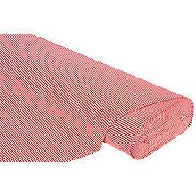 Baumwoll-Jersey 'Streifen' mit Elasthan, rot/weiss