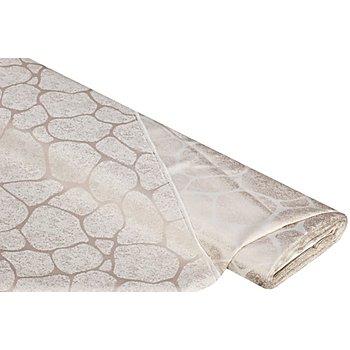 Damast 'Stone' mit Fleckschutz, helltaupe