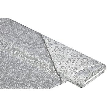 Damast 'Ornament', silber, mit Fleckschutz
