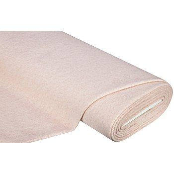 Mantelstoff mit hohem Baumwollanteil, rosa-melange