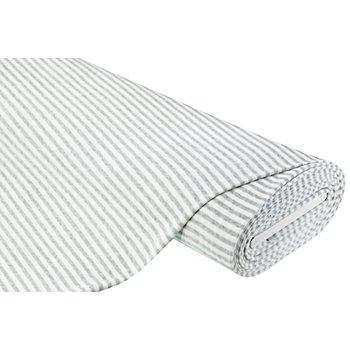 Tissu nicky à rayures, gris/blanc