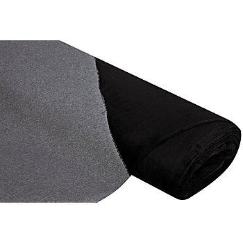 Alpenfleece 'Bicolor', grau-melange/schwarz