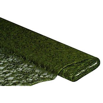 Spitzenstoff 'Marie', olivgrün