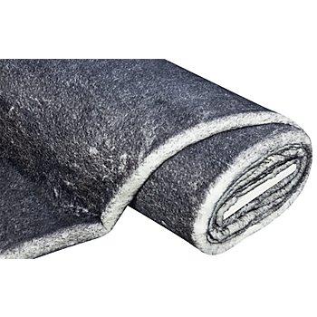 Imitation fourrure 'husky', blanc/gris foncé