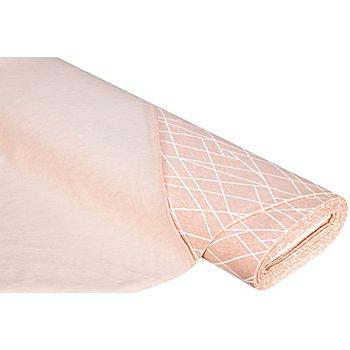 Sweatstoff 'Linien', rosa-melange/weiss