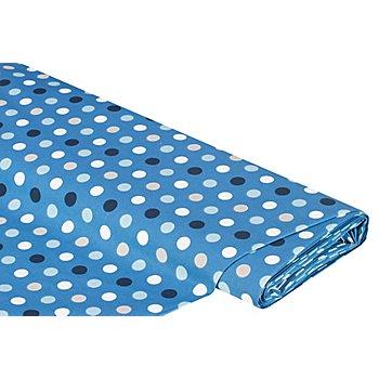 Beschichteter Baumwollstoff Tupfen, jeansblau-color