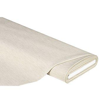 Tissu jacquard 'uni' - tissu bio, mi-lin, mi-coton, lin/crème