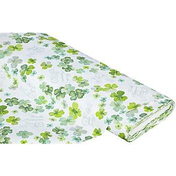 Dekostoff 'Glücksklee/Good Luck', grün-color