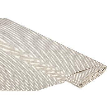 Tissu coton 'mini-losange', beige