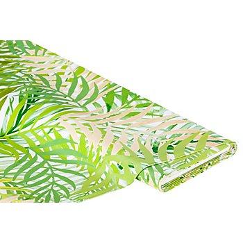 Abwaschbare Tischwäsche - Wachstuch 'Bambus Blätter', grün-color