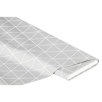 Abwaschbare Tischwäsche - Wachstuch 'Dreieck', hellgrau