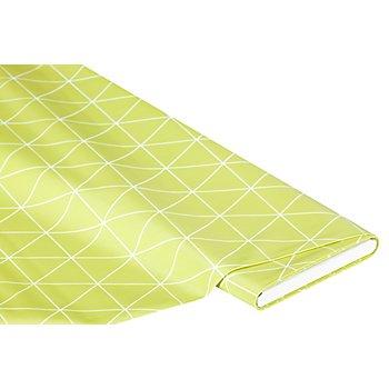 Abwaschbare Tischwäsche - Wachstuch 'Dreieck', hellgrün