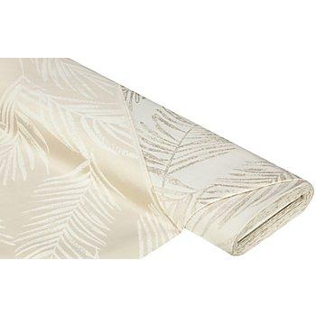 Tissu jacquard 'feuilles', beige/écru