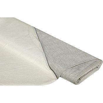 Tissu pour rideaux 'mélange', gris/écru