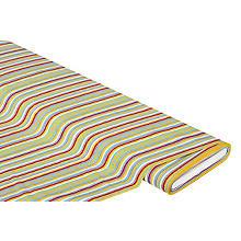 Tissu coton à rayures 'Mona', bleu/jaune/rouge