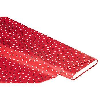 Abwaschbare Tischwäsche - Wachstuch Tüpfchen, rot/weiß