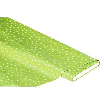 Abwaschbare Tischwäsche - Wachstuch Tüpfchen, hellgrün/weiß