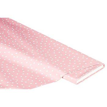 Abwaschbare Tischwäsche - Wachstuch Tüpfchen, rosé/weiß