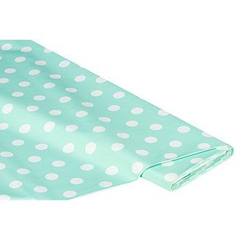 Abwaschbare Tischwäsche - Wachstuch Tupfen, mint/weiß