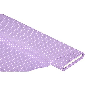 Tissu coton 'étoiles', lilas/blanc