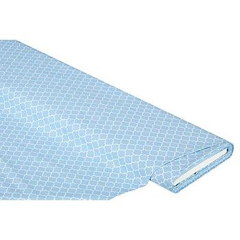 Tissu coton 'carreaux au style marocain', bleu clair