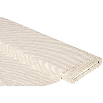 Baumwollstoff Tüpfchen 2 mm 'Mona', beige/weiß
