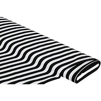 Streifenstoff, schwarz/weiss