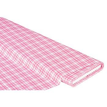 Baumwollstoff Karo 'Mona', rosa-color