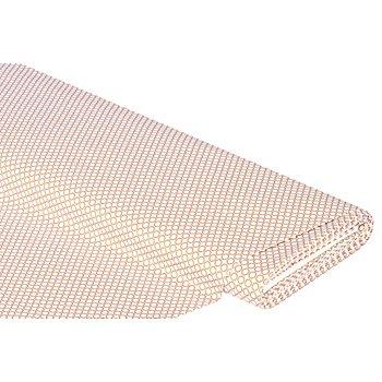 Baumwollstoff Pünktchen-Kreis 'Mona' mit Glitzer, weiß/kupfer
