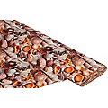 """Tissu coton à impression numérique """"coquillages/sable"""", marron multicolore"""