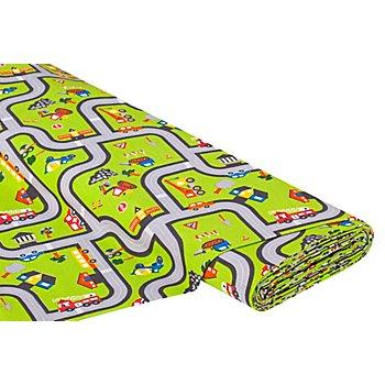 Tissu de décoration 'tapis de jeu', vert multicolore