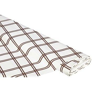 Toile à broder avec des carrés Aïda, blanc à rayures marron