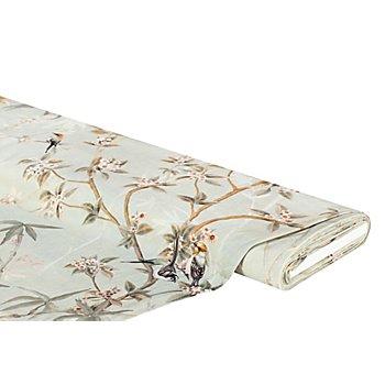 Baumwollstoff mit Digitaldruck 'Vögel & Zweige Ria', natur-color