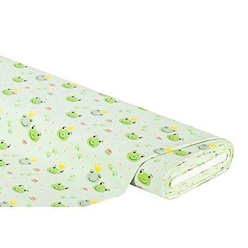 Baumwolljersey 'Frosch' mit Elasthan, grün-color