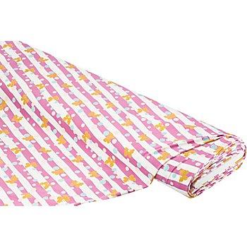 Baumwolljersey 'Glitzer-Schmetterling', rosa-color