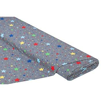 Baumwolljersey 'Punkte & Sterne' mit Elasthan, grau-color