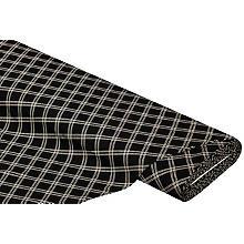 Viskose-Jersey 'Karo', schwarz