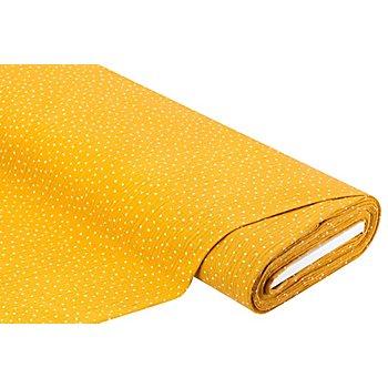 Tissu mousseline/double-gaze à pois, ocre