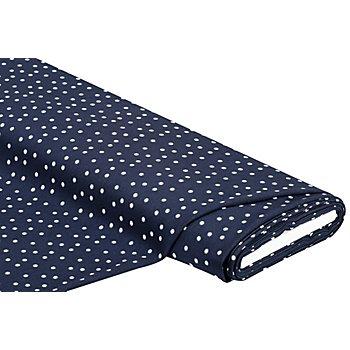 Tissu crêpe 'étoiles', bleu marine/blanc
