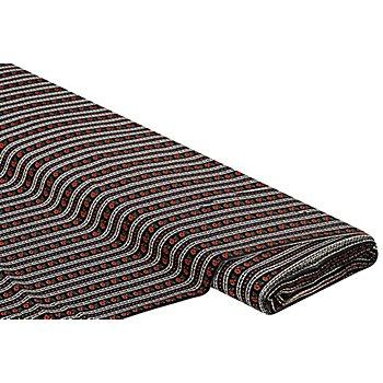 Tissu javanaise 'bordure florale', noir multicolore