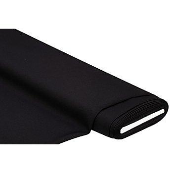 Tissu crêpe uni, noir