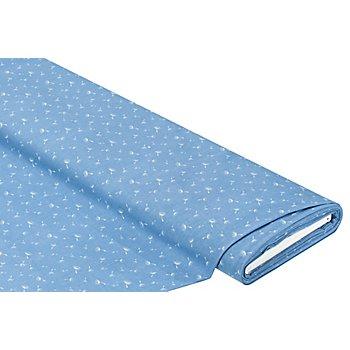 Baumwollstoff Pusteblume 'Mona', blau