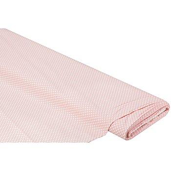Baumwollstoff Miniraute 'Mona', rosa/weiß