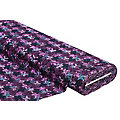 "Tissu jersey jacquard ""motif graphique"", violet multicolore"