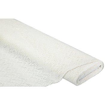 Tissu maille 'aspect crocheté', crème