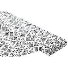 Tissu de décoration, noir/blanc