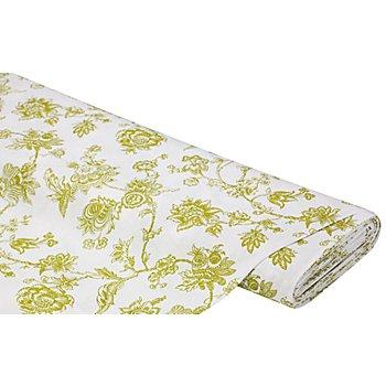 Dekostoff Zweige/ Blüten 'Lorena', grün color