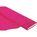 """Tissu jersey en coton """"pois"""" avec de l'élasthanne, fuchsia/rose"""