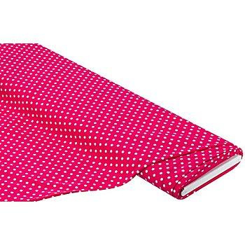 Tissu jersey en coton 'pois' avec de l'élasthanne, fuchsia/rose