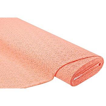 Tissu dentelle extensible 'Lace', saumon
